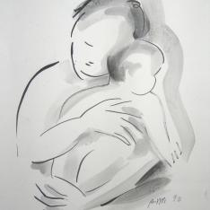 China acquerellata per maternità