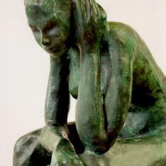 Figura assorta, particolare – bronzo, 2003