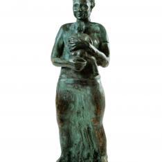 Maternità- bronzo, 2004 (presso Fondazione S. Giuseppe, Palazzo Soleri Rimini)